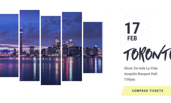 George Harris con #DeTodaLaVida en #Toronto 17 de Febrero