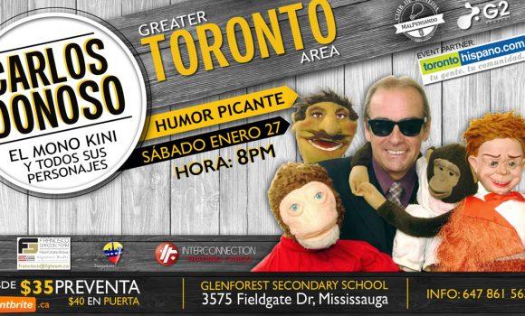Disfruta del show de Carlos Donoso este sábado 27 de enero