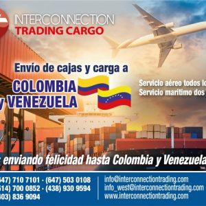Envío de cajas y carga a Colombia y Venezuela