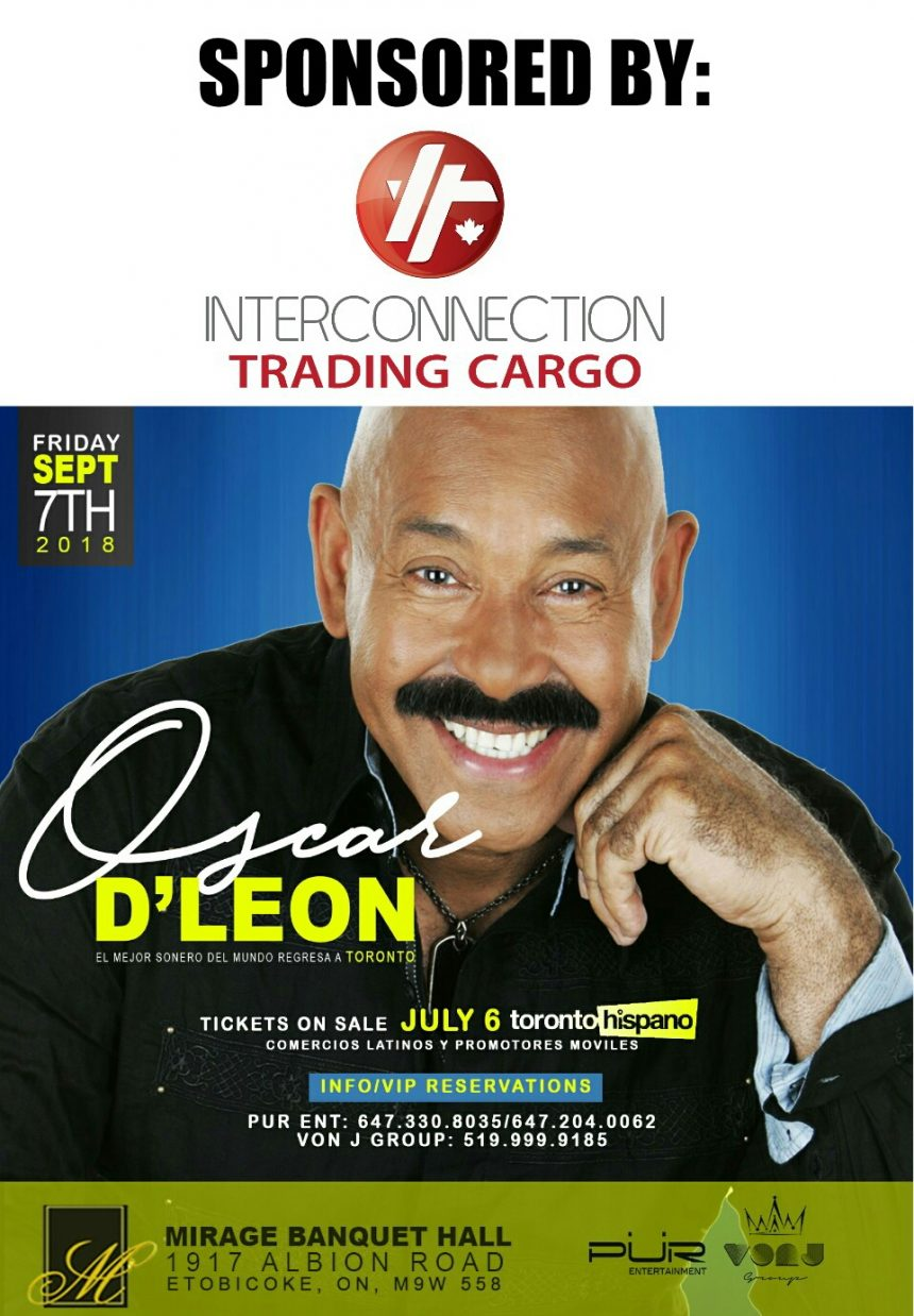 Oscar D'Leon en Toronto